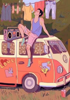Hippie Van + Speedpaint