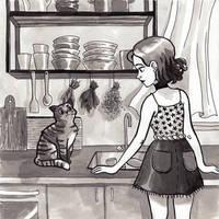 Sadie and Pepper by seroglazka