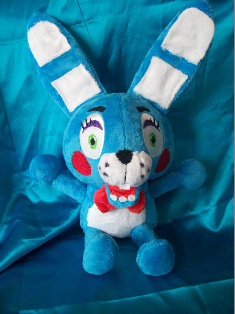Toy bonnie fnaf plush by pollyrockets on deviantart