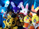 Five Nights at Freddy's plushies!