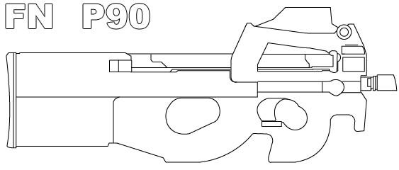 Как рисовать p90