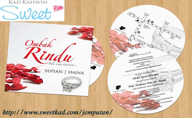 Kad Jemputan Kad Kahwin Diy Malaysia Sweet Kad By Workmail On