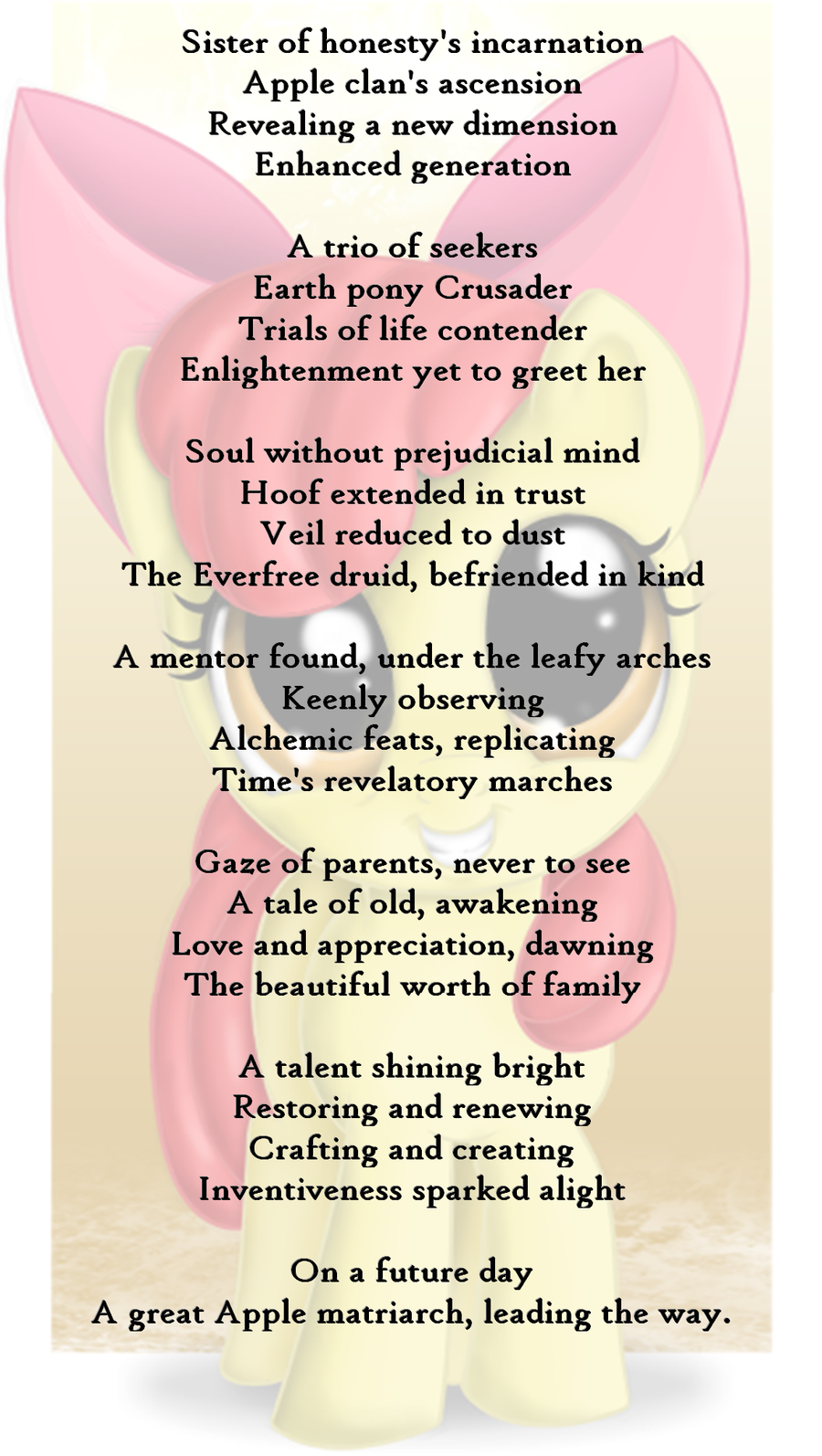 A Tribute to Apple Bloom: The Determined by Light-of-Dusk