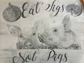 Eat Figs Not Pigs by CRuschFineArt