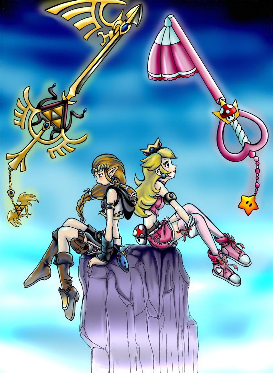 Kingdom Hearts Fanart Kimtendo_XD_zelda_peach_by_mauroz