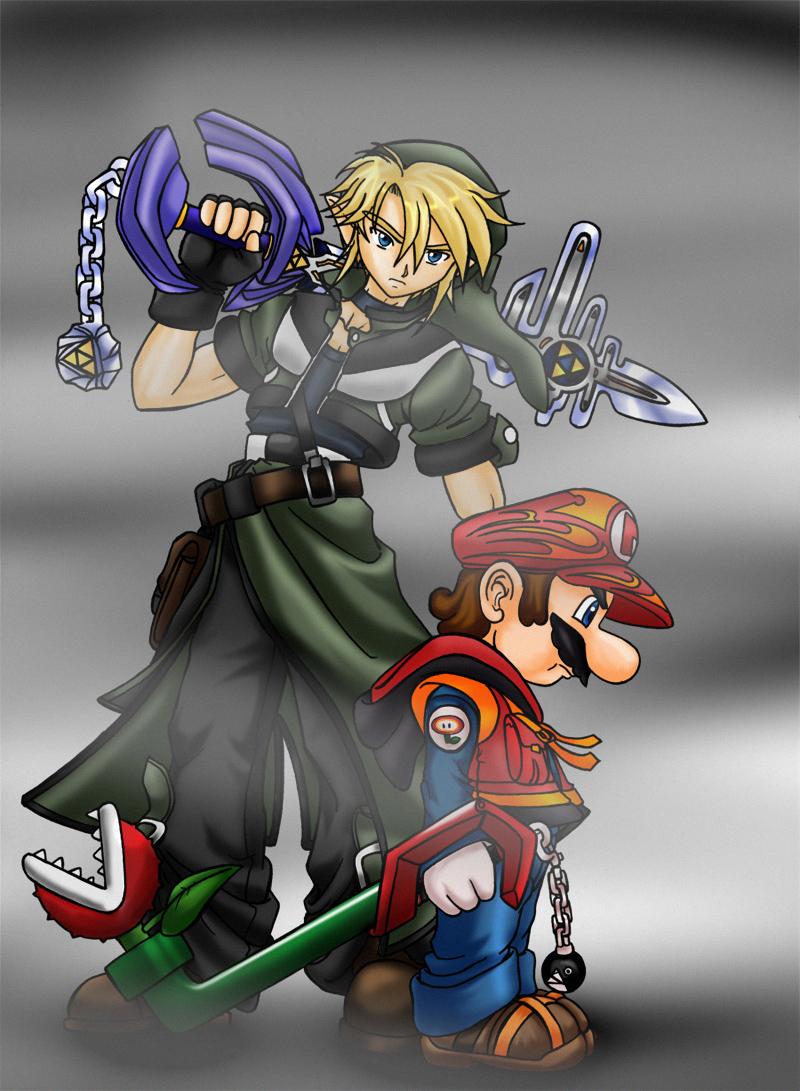 master keyblade ...link mario by mauroz