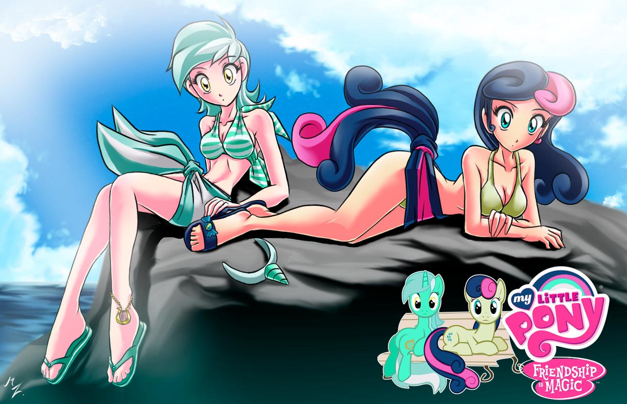 fan Lyra and Bon Bon by mauroz