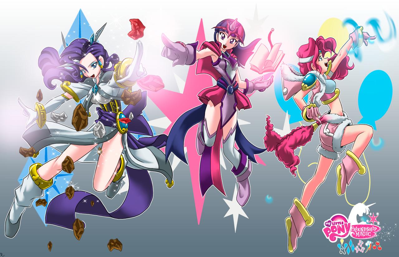 costumes magical girls FM comics (not final) by mauroz