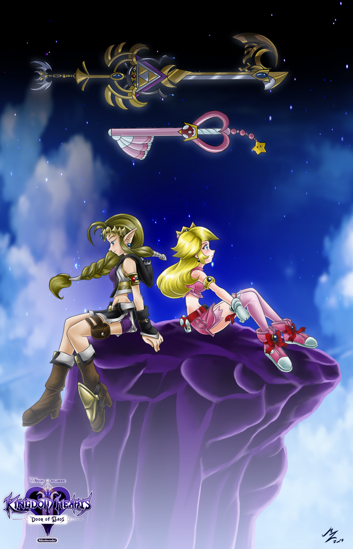 zelda peach: master keyblade by mauroz