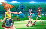 kasumi vs haruka and hikari : pokemon