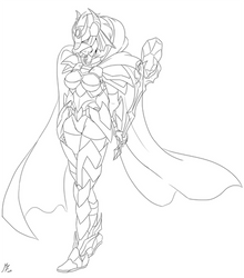 Ember's Armor (lineart) by mauroz