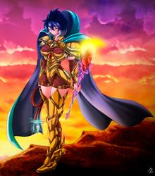 Ember: dragon queen (no helmet) by mauroz