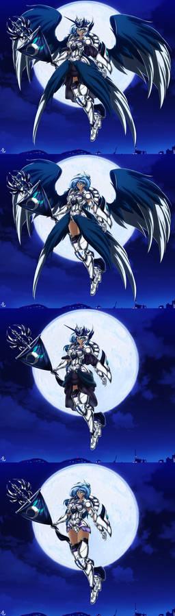 Princess luna: silver moon armor