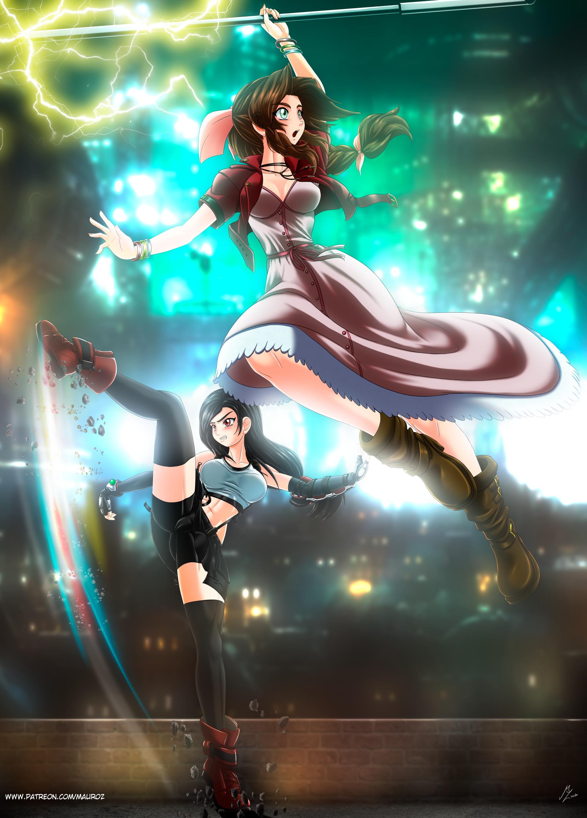Aerith and Tifa: FF7 remake
