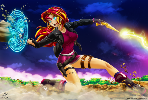 sunset shimmer: demon hunter