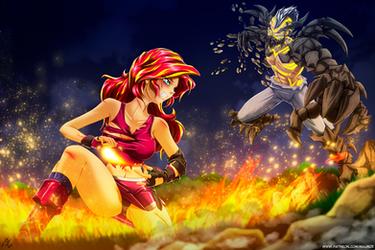 Fire vs Earth (Battle of Fallen Friends)commission