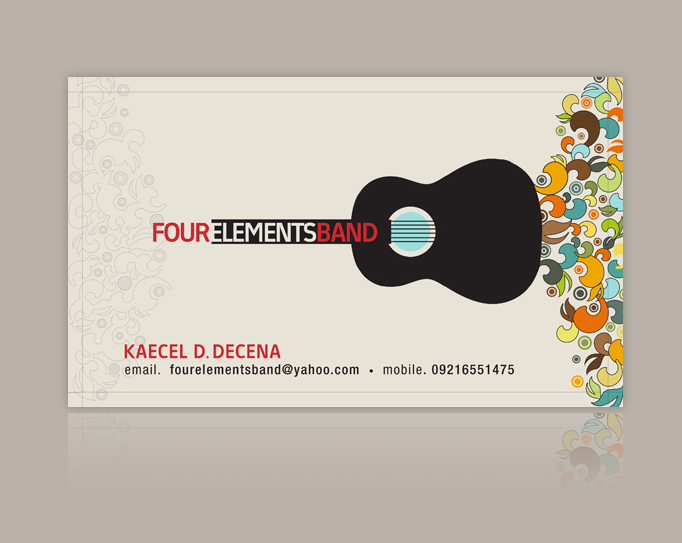 Four elements band business card 2007 by nollzzju on for Band business card ideas