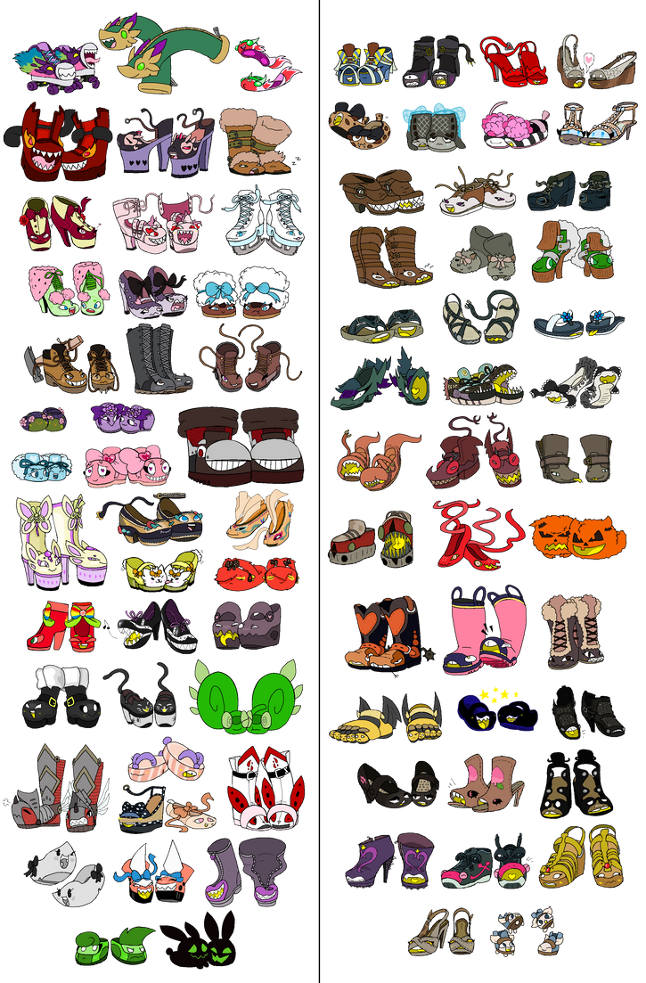 Sam 39 s shoos all of them by gigab00ts on deviantart for Craft fairs near me november 2017
