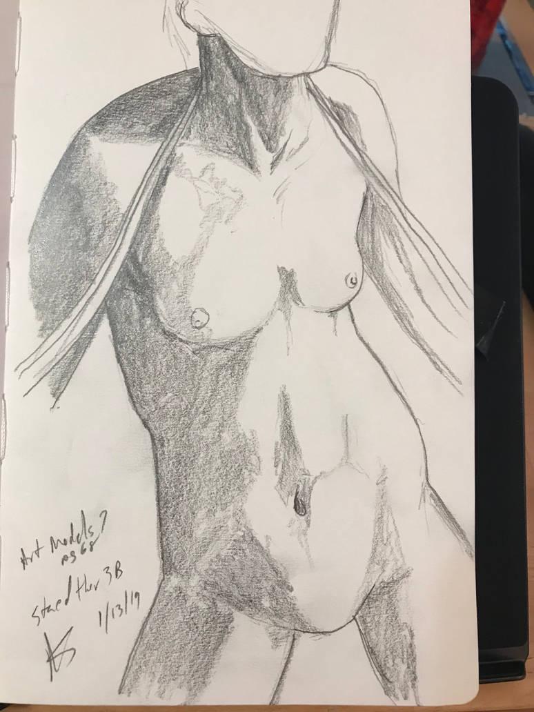 Life Model Pencil Sketch by asapwastaken