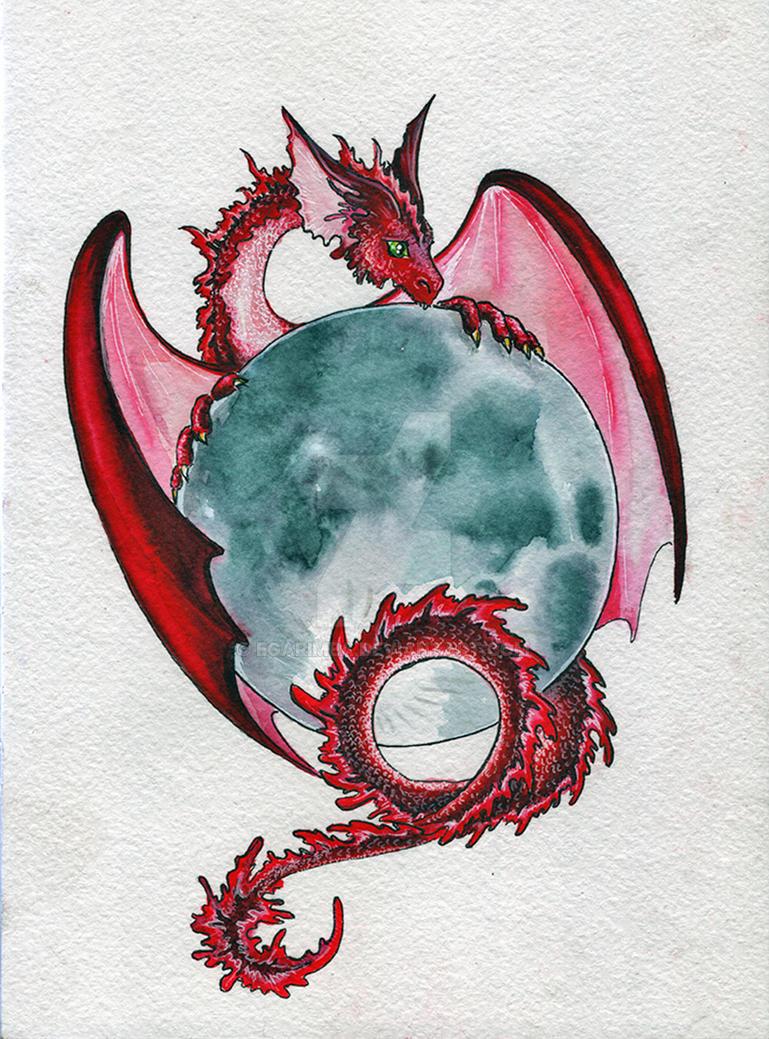 Full Moon Dragon: Dragon Of Full Moon By Egarimea On DeviantArt