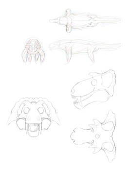 Snow Devil Concept Sketches