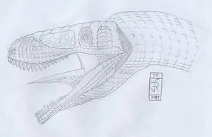 A random theropod by dracontes