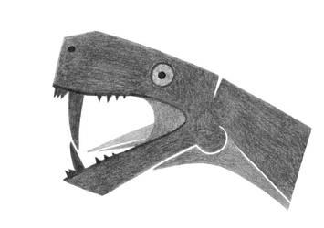 Blocky Gorgonopsian by dracontes
