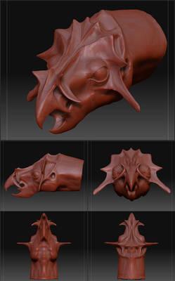 Digital Clay Dragon #1