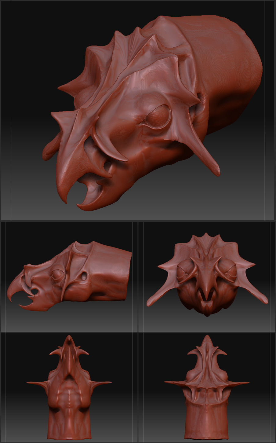 Digital Clay Dragon #1
