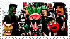 Radioactive Chicken Heads stamp by MochaTheDog