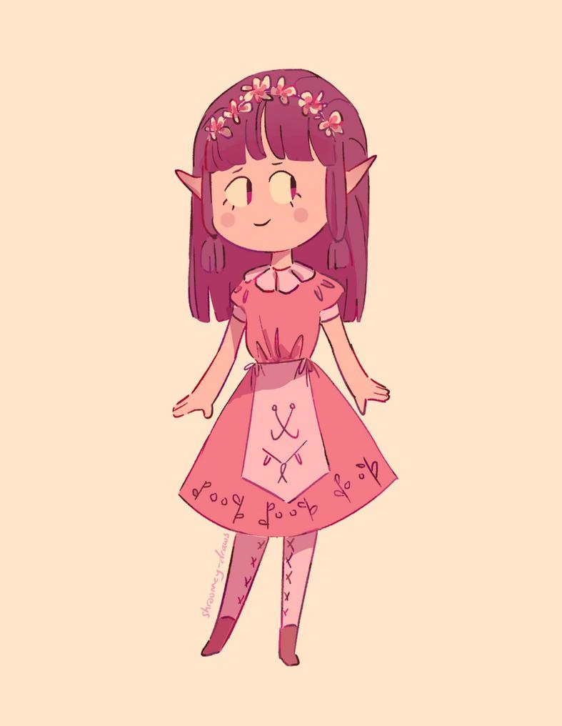 Pink Elf Gal by MushroomMoon