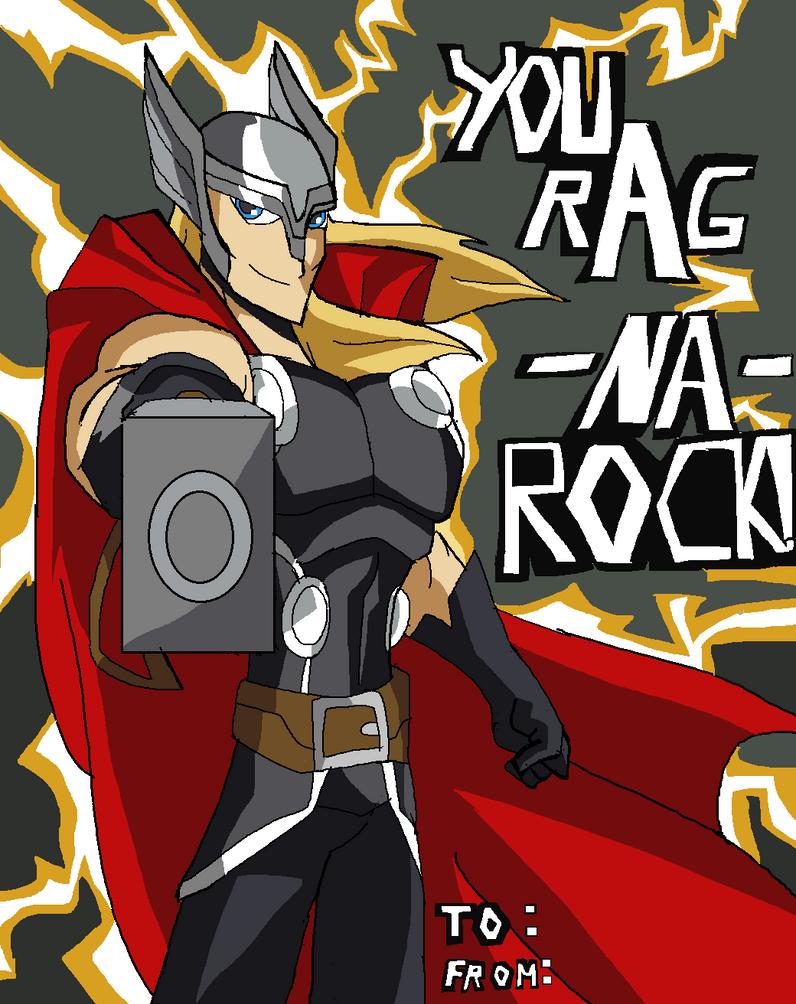 Marvel Valentine: Thor by Ninjaspartankx5