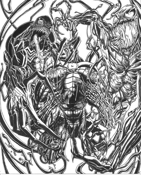 carnage spider man coloring pages - photo#17