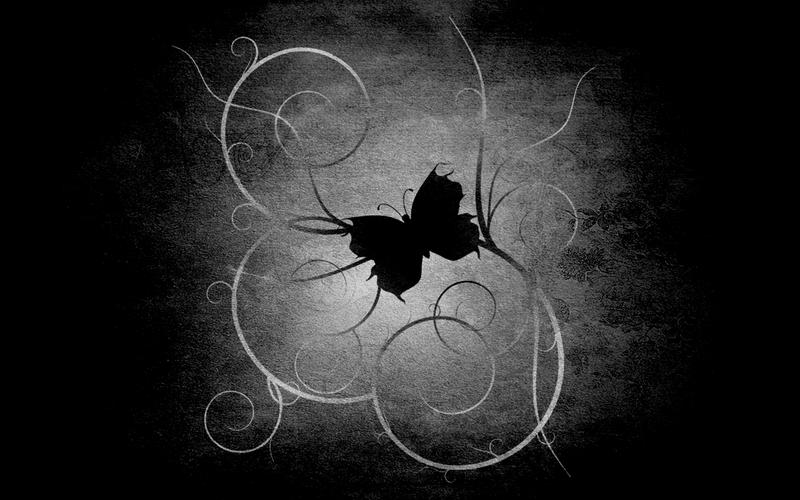 black butterfly wallpaper by garfield89