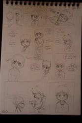 Toki and Keilan rough comic penciled by Keilanify