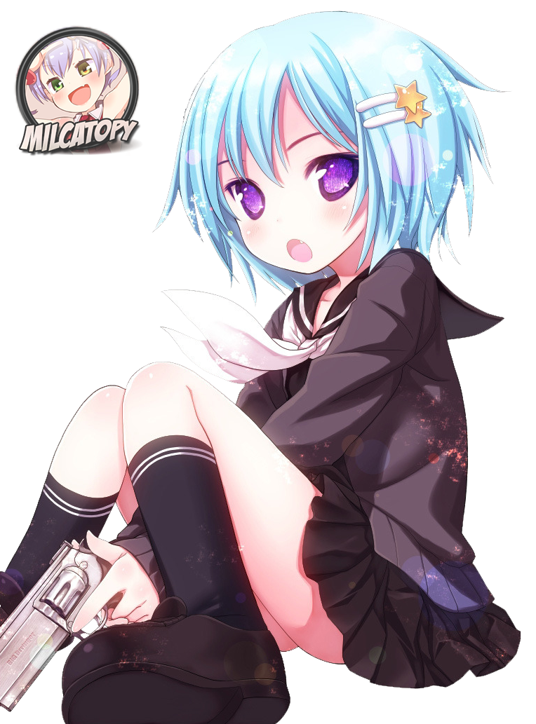 Anime Girl 2  Render by Milcatopy by Milcatopy on DeviantArt