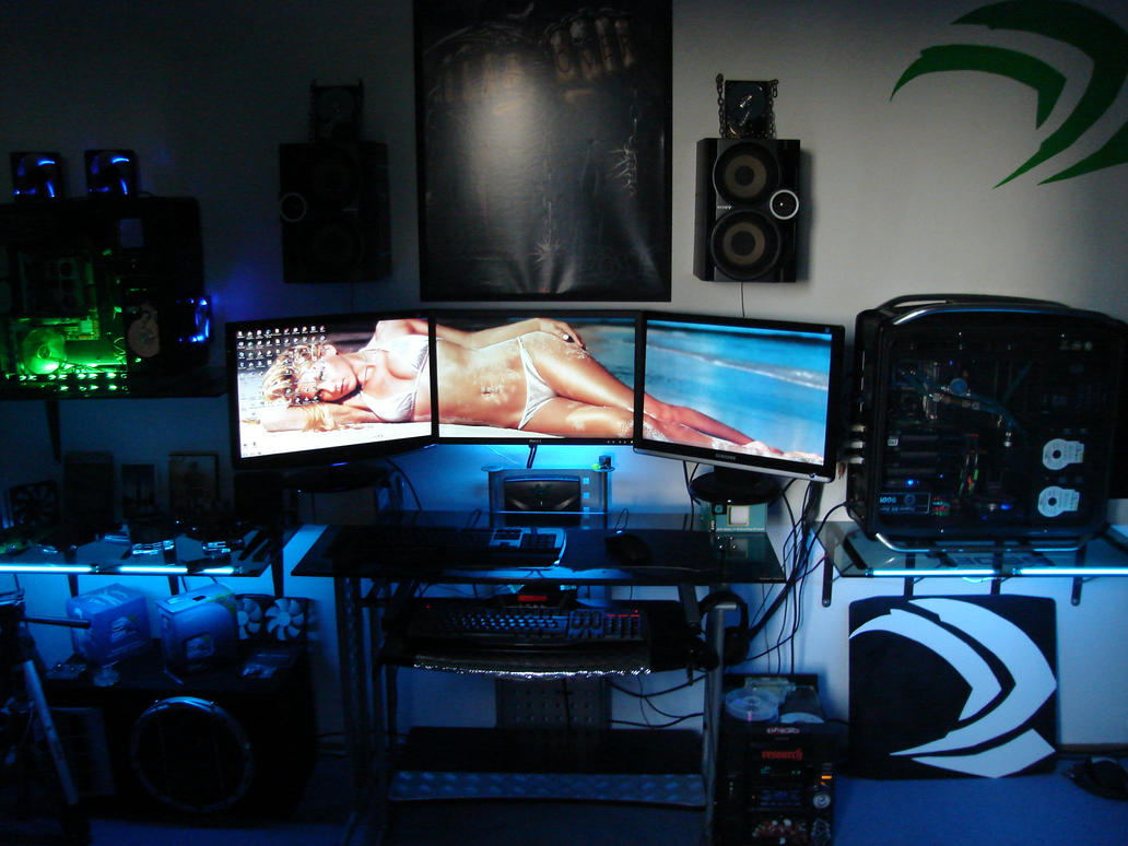 Badh8me`s Gaming Room 3 Way SLi 3 Monitor Setup By Badh8me ...