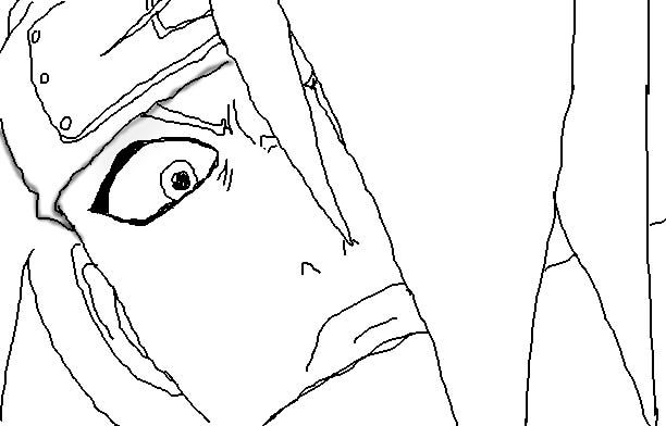 Scared Face Line Drawing : Scar face sketch templates
