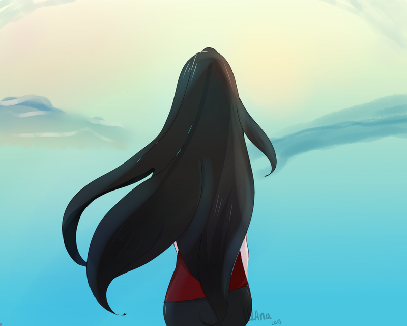 Looking through the Horizon by Applepie97