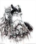 King Thror Inked Sketch