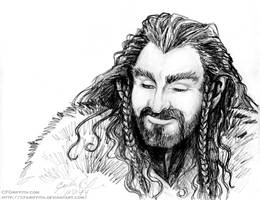 Thorin Smiling Easter Sketch by cfgriffith