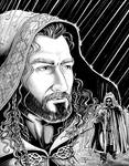 Cloaked Thorin in the Rain