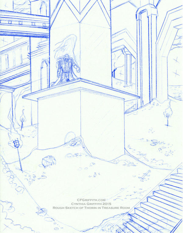 Thorin in Treasure Room Sketch1 by cfgriffith