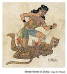 Wonder Woman vs Cheeta