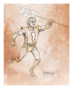 From my sketchbook...Warlock 2012