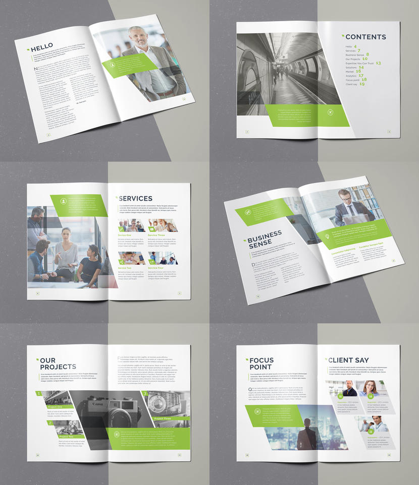 Business Brochure Template InDesign INDD 20 Pages by designelements ...