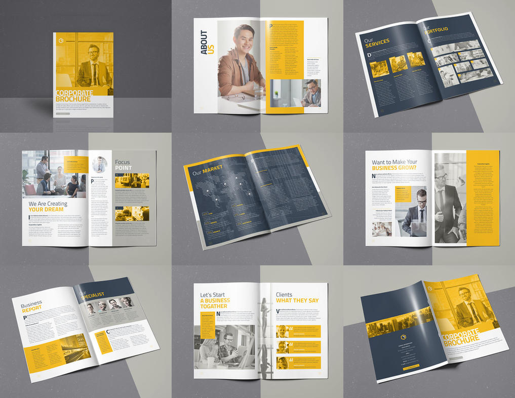 Corporate Brochure 16 Pages A4 Template InDesign by designelements ...