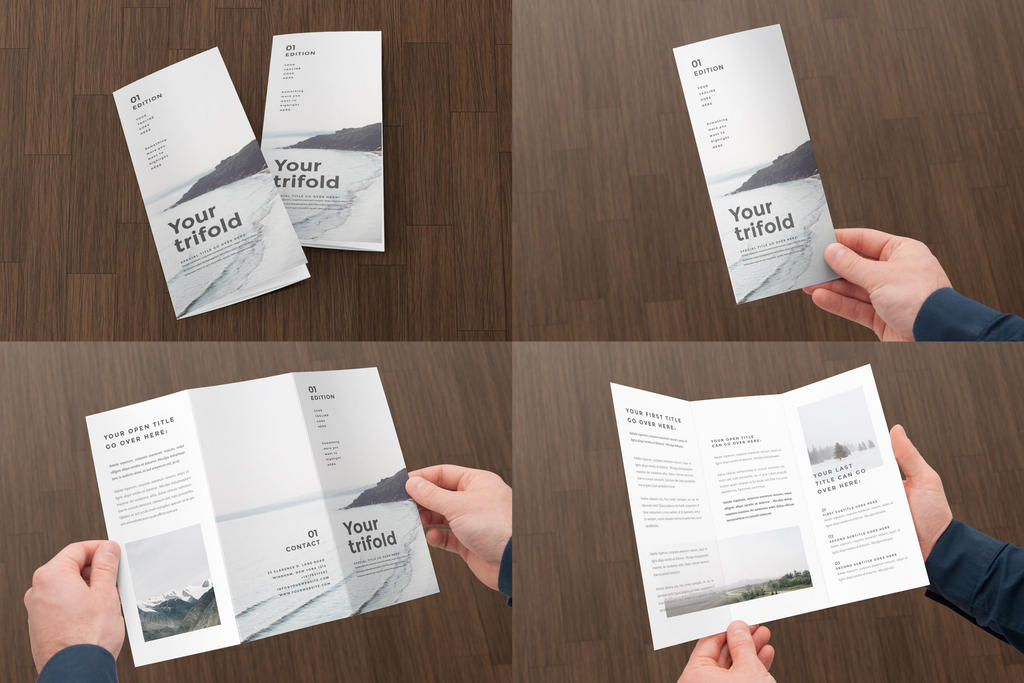 Simple Minimal Trifold Brochure Template Indesign By Designelements