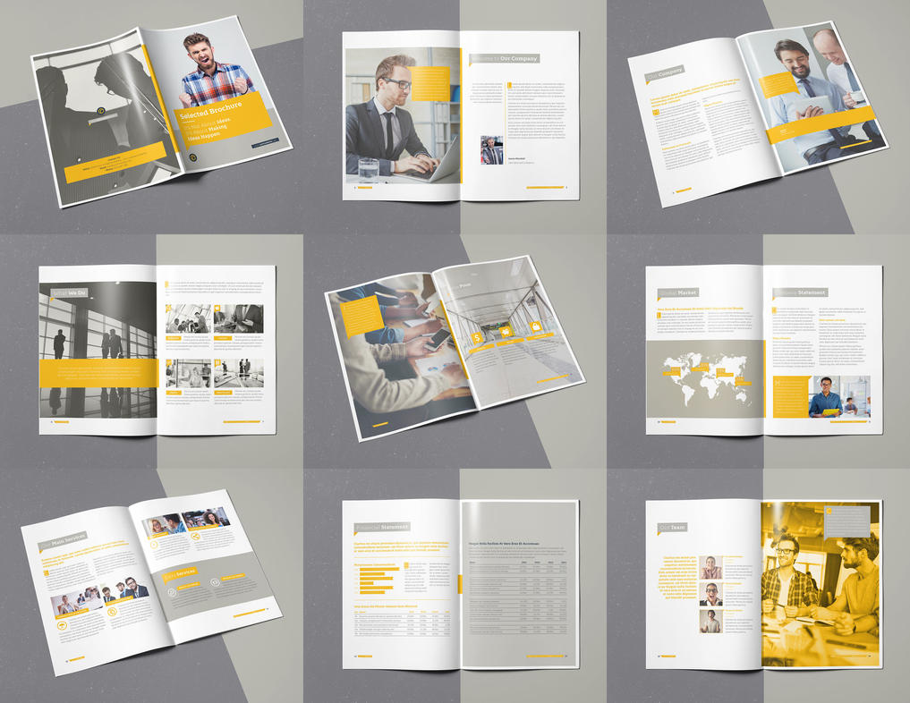 Selected Brochure 20 Pages A4 Template InDesign by designelements on ...