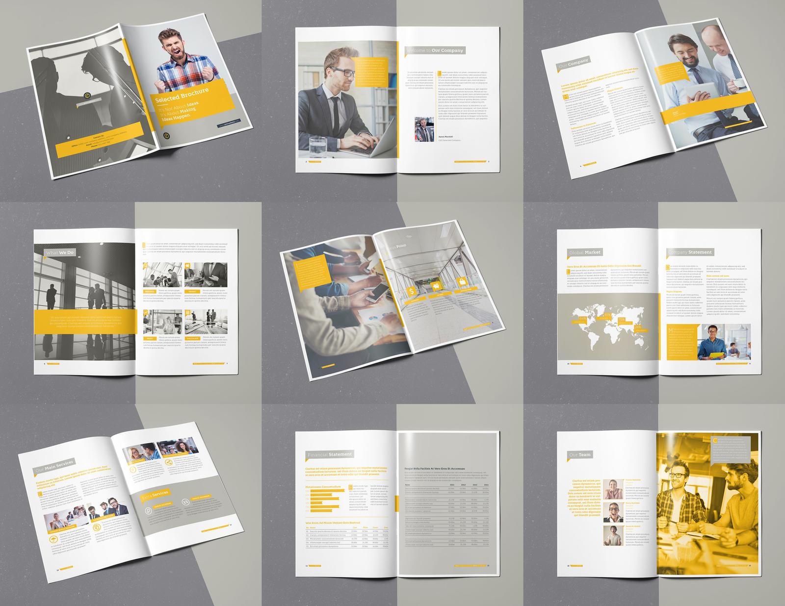 selected brochure 20 pages a4 template indesign by designelements on deviantart. Black Bedroom Furniture Sets. Home Design Ideas